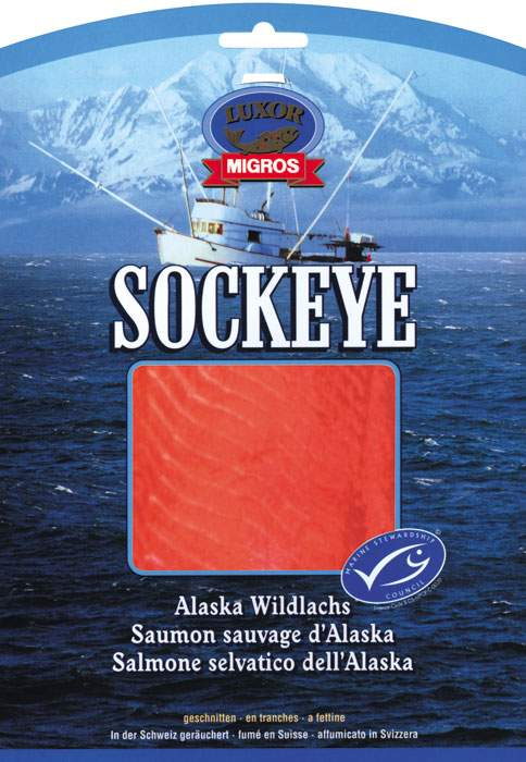 MSC labelled Migros sockeye salmon in 2002